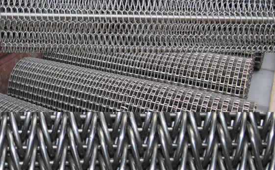 Industrial Use Weave Metal Wire And Polyester Conveyor Belt