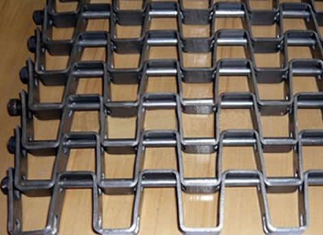 Pre-Formed Woven Double Steel Rods Conveyor Belts Reinforced