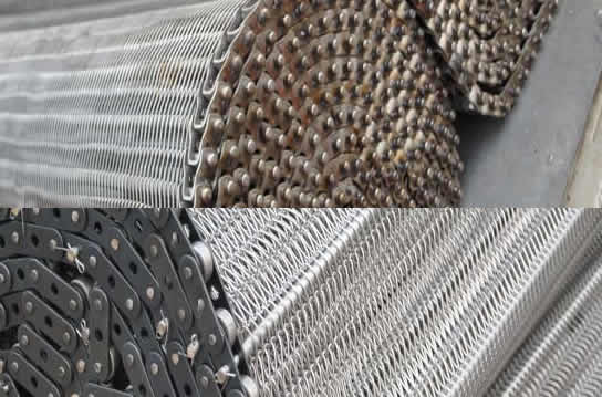 Stainless Steel Flat Flex Conveyor Belt Screen For Light